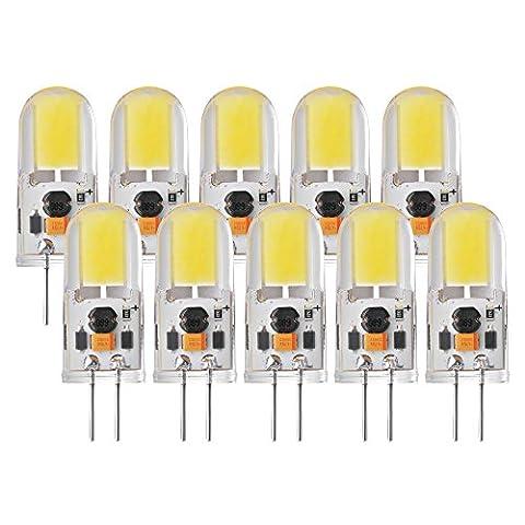 Sunix 10pcs Ampoules LED de 5W G4 COB, 270-300LM, Reglable,