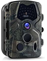 """Victure Caméra de Chasse 12MP 1080P Full HD Caméra Animaux de Surveillance PIR Vision Nocturne Infrarouge IP66 Piège Photographique avec 2.4"""" LCD, 120° Angle de Détection et 20M Portée Caméra de Jeu"""