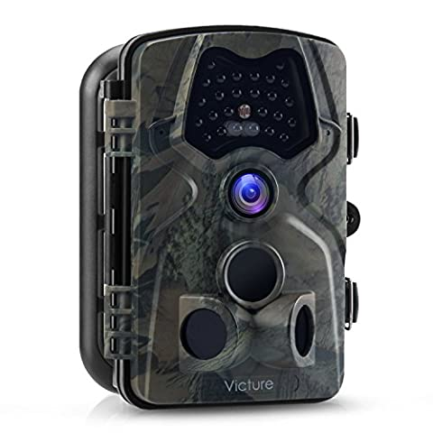 Victure 1080P Full HD Wildlife Trail Camera Trap 12MP Infrared Camera Cam with Night Vision, 120°Wide Angle, Motion Activated, 2.4