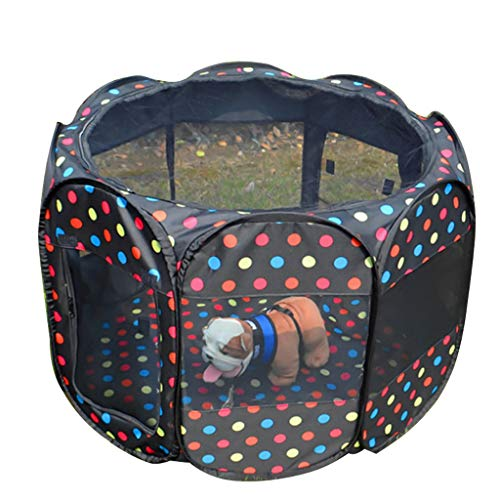 PLDDY Haustier Tasche Große Hund Zaun Acht-Gesicht Zelt Oxford Tuch wasserdicht Anti-Scratching Dog Cat Nest Mutterschaft Ward (Color : E)