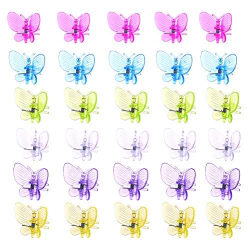 30 Pack Bunte Orchideenclips, Dunkelgrüne Pflanzenbefestigungsclips, Gartenblumenrebenclips zum Unterstützen von Stielen, Weinreben, Stielen, um aufrecht zu wachsen und Blumen pflanzlicher zu machen -