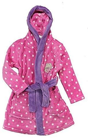 Disney Frozen Die Eiskönigin Mädchen Bademantel Morgenmantel (98-104, pink)