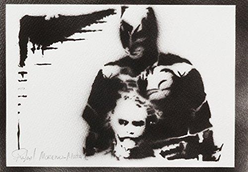 Batman Und Joker Handmade Street Art - Artwork - Poster (Arten Von Batman Kostüme)