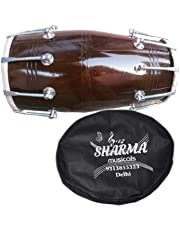 "SHARMA MUSICAL STORE DHOLAK NUT 17"" WITH COVER"