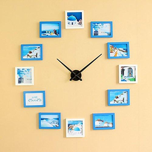 DIY Frame Uhr, DIY Wanduhr modernes Design DIY Bilderrahmen Uhr Kunststoff Kunst Bild Uhr einzigartige Klok Home Decor - machen Sie Ihre eigenen Multi Fotos ( Farbe : C ) (Bilderrahmen Machen Sie Ihre Eigenen)