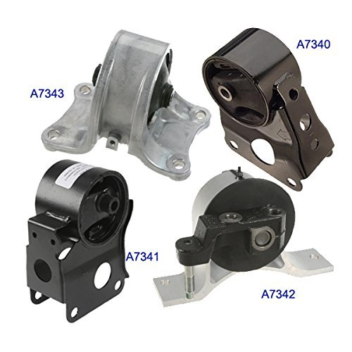 Fits: Engine Motor & Trans. Mount Set 4PCS for 2002-2006 Nissan Altima 2.5L for Auto Transmission by MaxBene - 2005 2006 Nissan Altima Motore