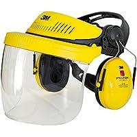 3M G500V5F11H510-GU - G500 combinación industrial: Arnés G500-GU, pantalla 5F-11 y orejeras Optime I (P3E) amarillo