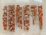 Wago Verbindungsklemme Sortiment 175 Stück Hebelklemmen gemischt Typ 221 - 412 , 413 , 415 in SK-DV Kunstoffbox