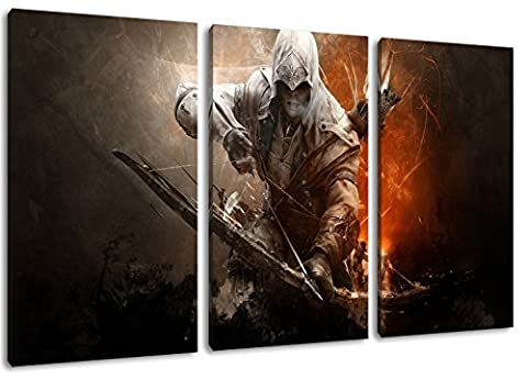 Dark Assassins Creed 3 Pièces sur toile, taille globale: 120x80