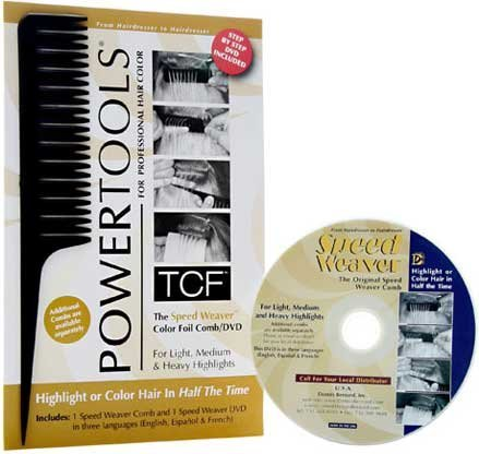 POWERTOOLS TCF The Speed Weaver Color Foil Comb/ DVD HC-32713 by PowerTools