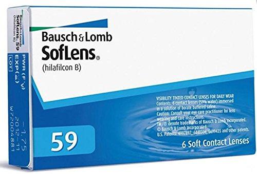 Torische Linsen (Soflens 59 Monatslinsen weich, 6 Stück / BC 8.6 mm / DIA 14.2 / +0,75)