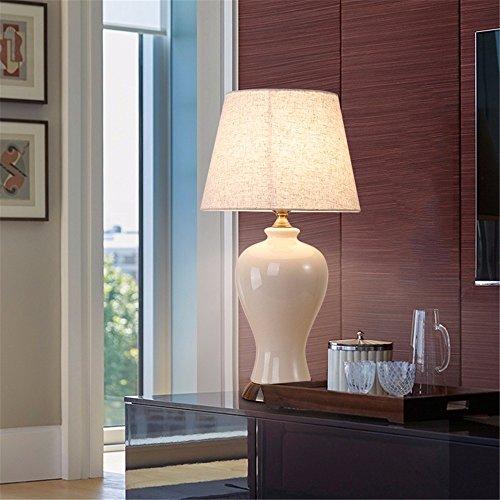 KAI-Keramik-tischlampe Nordic Keramik-tischlampe amerikanischen Tischleuchte Hotel Zimmer Lampen Wohnzimmer Sofas Schlafzimmer Soft Sleeper Bedlamps, runde Headshades (Sleeper Sofa)