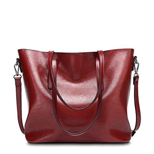 RAN Frau Ölwachs Lederhandtasche Schultertasche Messenger Bag Europäischen Und Amerikanischen Stil Mit Kübeln B