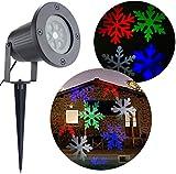 Bloomwin Projecteur Exterieur LED IP44 Flocon de Neige pour Noel, Party, Anniversaire
