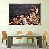 NIMCG Familia HD Imprimir Poster Decoración para el hogar Lienzo Imagen Arte Fruta Comida Pintura Cocina Restaurante Arte de la Pared (Sin Marco) A1 50x75 CM