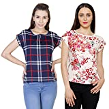 #10: 2Day Womens Multicolor Crepe TOP (Pack of 2)