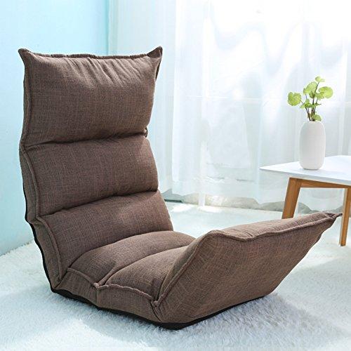 Mikrofaser-stuhl-bett (JiaQi Falten Folding Sofa,Einzelnen Fußboden Stuhl,Tatami-matten Sofa faul Schlafzimmer Kreativ Bett-Kaffee Farbe 124x50x13cm(49x20x5inch))