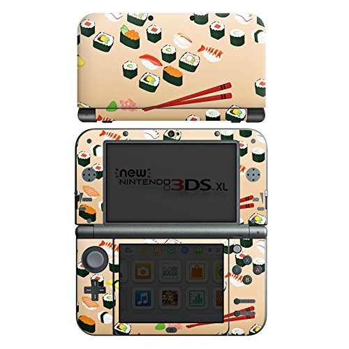nintendo-new-3ds-xl-case-skin-sticker-aus-vinyl-folie-aufkleber-sushi-essen-fastfood