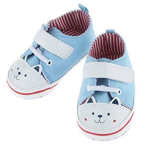 EOZY Babyschuhe Kinder Lauflernschuhe Canvas Sneaker Turnschuhe Hellblau