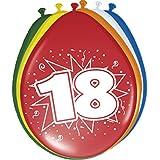 Ballon bunt Luftballons Zahl 18 Geburtstag 8 St. Deko Ballons Party