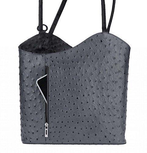OBC Only-Beautiful-Couture, Borsa a zainetto donna Rosa rosa chiaro 27x29x8 cm (BxHxT) grigio-nero (Strauss)