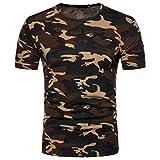 2ee05e888df Camiseta Hombre,Longra Camiseta de Camuflaje Hombre Militares Camisetas  Deporte Ropa Deportiva Camisa de Manga