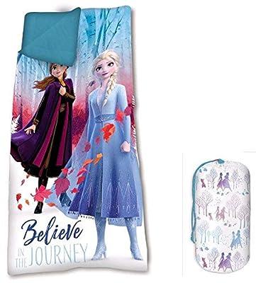 Frozen 68 x 138 cm 2 Saco de Dormir Acampada y Senderismo Infantil, Juventud Unisex, Multicolor (Multicolor), Talla Única por KIDS
