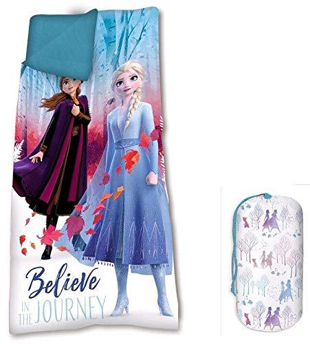 Frozen 68 x 138 cm 2 Saco de Dormir Acampada y Senderismo Infantil, Juventud Unisex, Multicolor Multicolor...