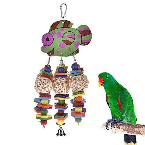 Jouets pour oiseaux Parrot escalade Nœuds Chewing Jouets petits poissons rotin balle Chewing Jouet oiseaux exercice soulage le stress et Ennui Décore The Bird Cage Pour Animaux Perroquets REMIS en couleur aléatoire