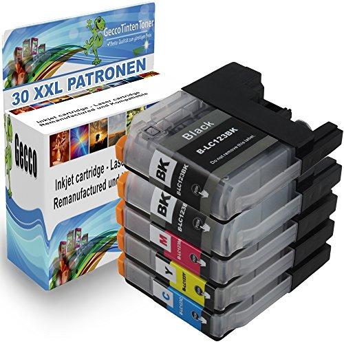 Premium Set di 30 cartucce di inchiostro compatibile con Brother LC-123 / 125 / 127 XL per Brother DCPJ132W DCP-J552DW DCP-J752DW DCP J 152-W DCP J 152-WR DCP-J-4110 DW DCP-J-172 W MFC-J6520 DW MFC-J6720 DW MFC-J6920 DW MFC-J6920 MFC-J870 DW MFC-J470DW MFC-J475DW MFC-J245 DCP-J152 MFC-J 245 MFC-J 4310 DW MFC-J4610DW MFC-J4710DW MFC-6720DW MFC-J650DW MFC-870DW 30xLC-123/125/127-Brother