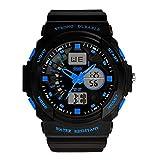 Yesurprise Reloj Deportivo De Silicona Para Hombre 0955 Luminoso Alarma Cronómetro Calendario Color Azul