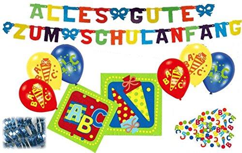 20 Servietten + Girlande + 6 Luftballons + Konfetti