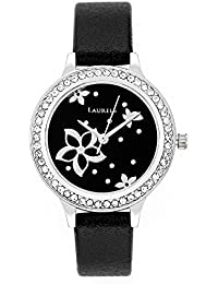 Laurels Black Color Analog Women's Watch With Strap: LWW-FL-020207