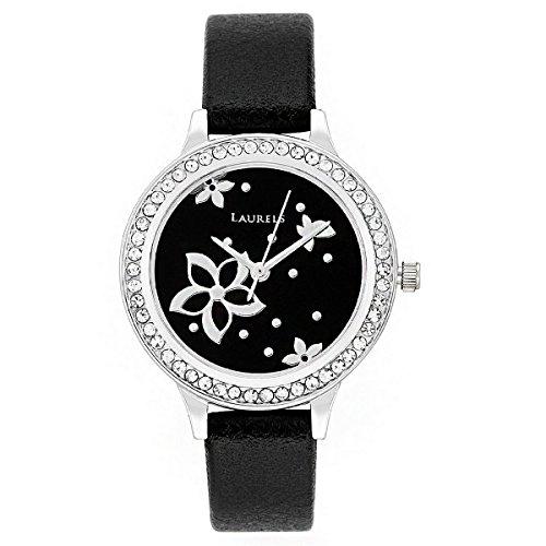 Laurels Black Color Analog Women's Watch With Strap: LWW-FL-020207
