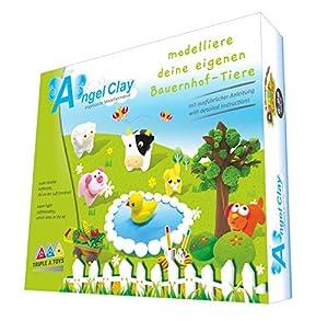 Triple A Toys Angel Clay - Juego de Manualidades para Animales de Granja, Kit de Manualidades con Masilla de Modelado para Crear Animales de Granja, para niños a Partir de 6 años