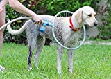 QYHSS Haustier Dusche Sprayer, Haustier Duschkopf, Schrubber, 360-Grad-Clean-Tool-Baddusche, Ringförmiger Allround-Schuss für große, mittelgroße, kleine Hunde, Innen- und Außenbereich
