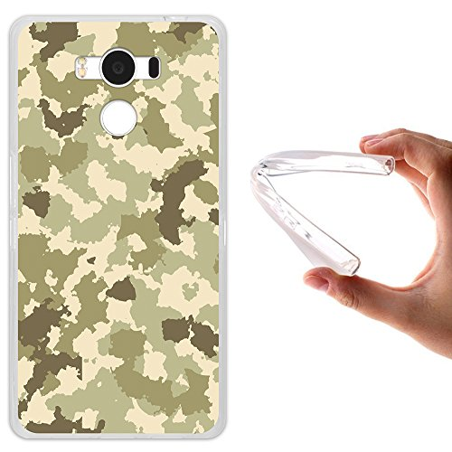 WoowCase Elephone P9000 Hülle, Handyhülle Silikon für [ Elephone P9000 ] Grüne Militärtarnung Handytasche Handy Cover Case Schutzhülle Flexible TPU - Transparent
