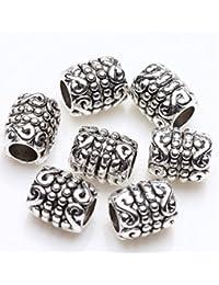 Lot de 100 perles en métal Ilovediy - Perle d'espacement - Artisanat - 6,5mm, #11-100Stk