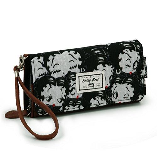 Betty Boop Noir Münzbörse, 20 cm, Schwarz (Negro)