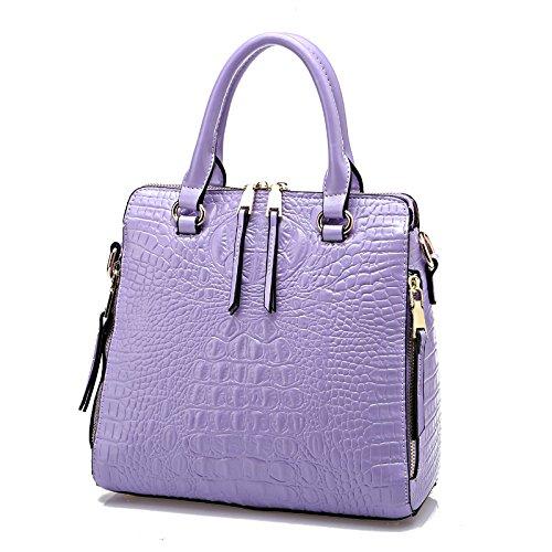 Mefly La versione coreana di portatile singola borsa a tracolla alla moda di fascia alta All-Match Borsa per portatile blu Violet