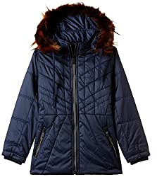 Fort Collins Girls Regular Fit Jacket (10210_Navy_30 (10 - 11 years))