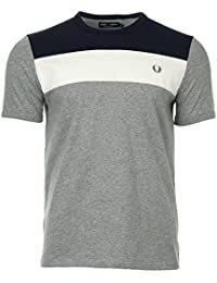 Fred Perry Colour Block Panel Shirt Steel Marl, T-Shirt