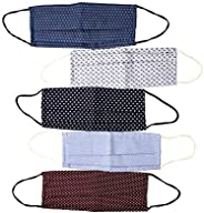 Centopercento Camicie 5 Mascherine lavabili, Mascherina Lavabile Cotone, Mascherine in tessuto,con Filtro Cert