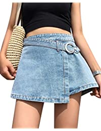 Kasen Minifalda Falda Vaquera Mujer Falda Vintage Playa De Verano Jeans e11d4276ec99