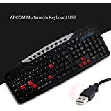 Adcom Multimedia Keyboard USB