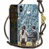 DeinDesign Apple iPhone XS Max Carry Case Hülle zum Umhängen Handyhülle mit Kette Geschwister Liebe Spruch