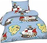 Renforcé Kinder-Bettwäsche Größe: 100x135 cm + 40x60 cm 100% Baumwolle 2-teiliges Set Design