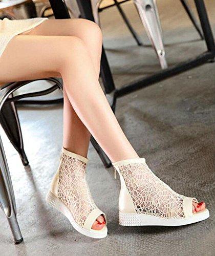 Peep Toe Pompini Charming Stivali Stivali Stivali Nero Stivali 40/41/42/43 Sandali Grande Dimensioni per le Donne White