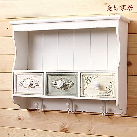 Wangjialin-creativas de decoración del hogar bastidores de pared gancho de la pared de la cocina y baño necesaria objetos-w284
