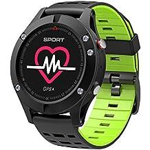 Hombre Mujer Reloj con GPS de Deportivo con Pulsómetro y Notificaciones Inteligentes,Monitor de Sueño,Altímetro,Impermeable 67, Inteligente Reloj GPS pulsera deportiva para Android e iOS